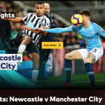 ball hitting the face newcastle vs manchester city