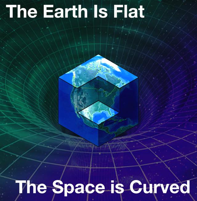 Earth is flat meme