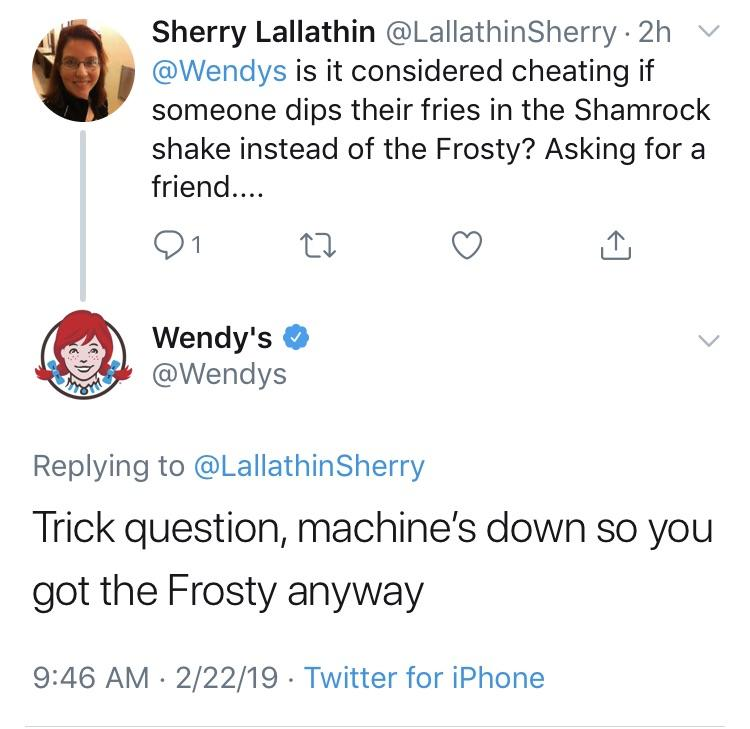 best wendy's tweets 2018-9